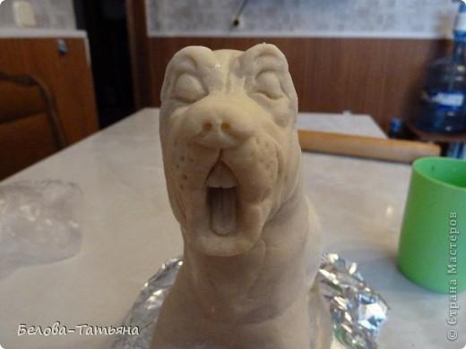 вот такой пёс лентяй у меня получился. немного раскажу как я его делала. фото 7