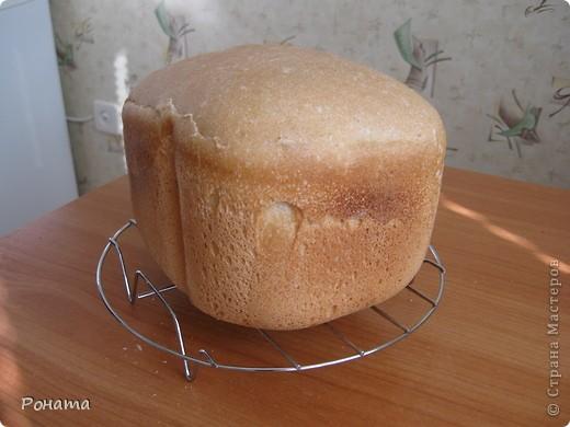 """В прошлом году через некоторое время после покупки хлебопечки возник вопрос: а как испечь хлеб без дрожжей? Был """"перерыт"""" весь интернет, и я начала """"выращивать"""" ржаную закваску. Вот такой ржаной хлебушек получился: фото 3"""