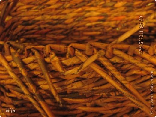 Мне не нравилось, как прищепки болтались на веревках и я сделала такую переносную плетенку для них.  фото 6