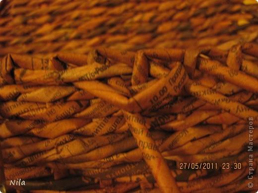 Мне не нравилось, как прищепки болтались на веревках и я сделала такую переносную плетенку для них.  фото 7
