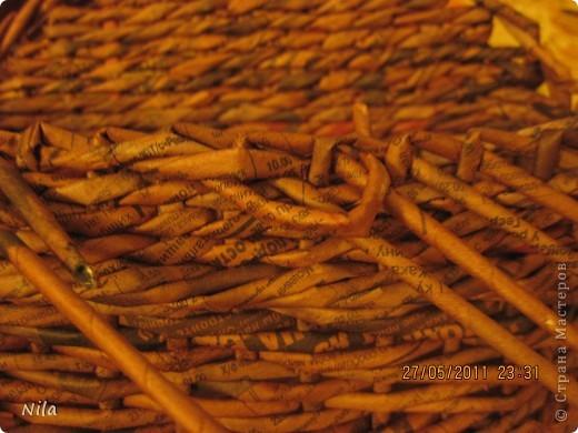 Мне не нравилось, как прищепки болтались на веревках и я сделала такую переносную плетенку для них.  фото 8