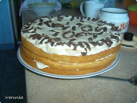 В субботу не было что делать, вот сделали торт с младшей сестрой :) фото 3