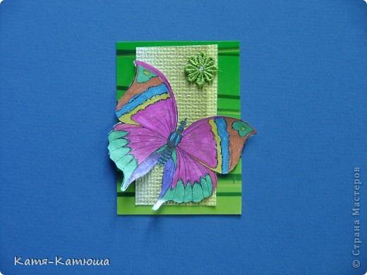 Бабочки раскрашены гелевыми ручками с блёстками. Поэтому не получается сфотографировать хорошо. фото 8