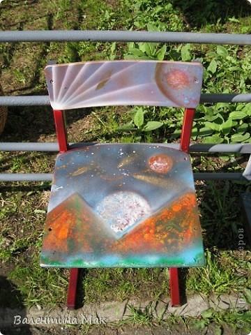 Моя первая работа спрей-красками. Рисовала я её на МК у мастера ещё осенью. фото 5