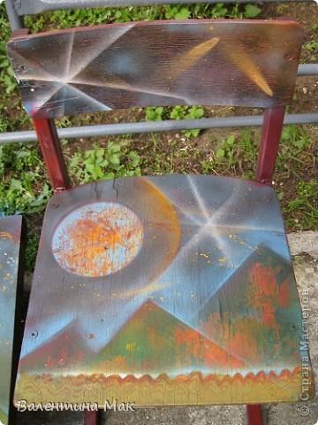 Моя первая работа спрей-красками. Рисовала я её на МК у мастера ещё осенью. фото 6