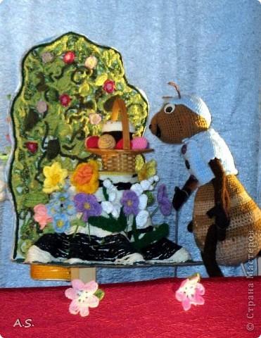 """На Пасху ставили спектакль """"Тёплая слезинка"""" для детей. И куклы и все декорации связаны крючком. Такие необычные декорации к спектаклю сделали мастерицы из нашего семейного клуба """"Ковчег"""" фото 2"""