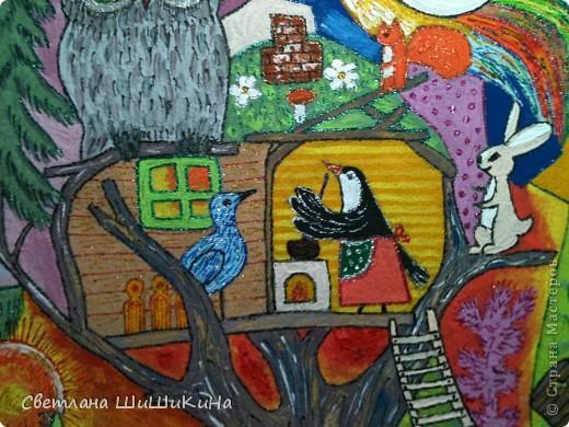 Люблю деток очень-очень... Как увижу что-то красивое и детское, так сразу же и хочется деткам в наш садик сделать. Есть такая замечательная художница Оксана Заика. Вот с её - то рисунка и слизана роспись. Это не копия, но я старалась нарисовать близко к оригиналу. Надеюсь наши детки найдут тут знакомых сказочных героев. Итак, прошу любить и жаловать: Котик I - Сказочный. фото 7