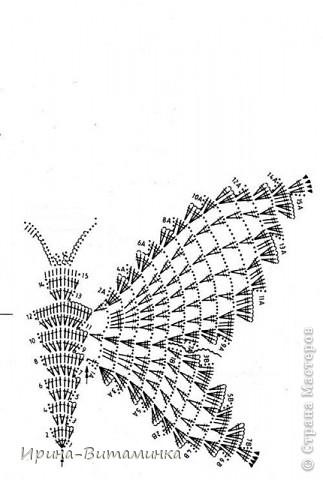 крючком бабочка+ схема