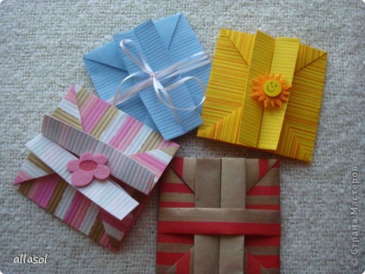 Очень понравилась идея превращения коробочки в конверт http://sjrenoir.com/50111571884  фото 1