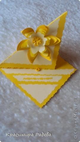 Това панно го направих за юбилея на една ат колежките ми. Ще й го подаря заедно с картичката ,която изготвих по-рано, също в жълто. фото 2