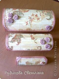 Купила набор из трех бамбуковых салфеток - получилось две шкатулки и коробочка для очков!!! фото 1
