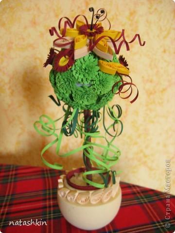 Моя первая работа - дерево счастья. Потом сделала еще одно в подарок подруге, но забыла сфотографировать. фото 1