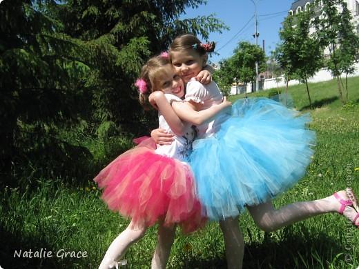 юбка-пачка: цвет бледно-розовый+персиковый. талия 50-60 см, длина 32 см фото 7