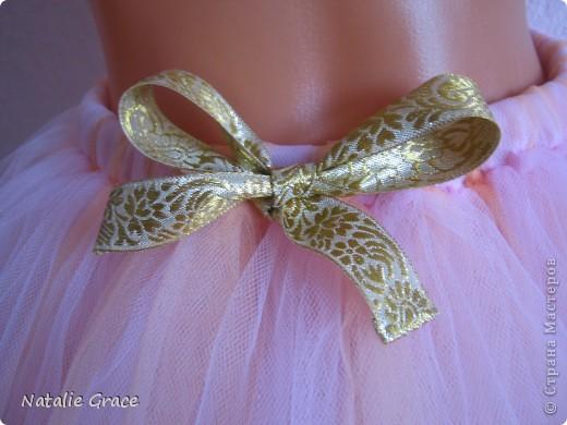 юбка-пачка: цвет бледно-розовый+персиковый. талия 50-60 см, длина 32 см фото 2