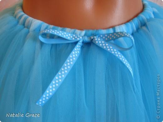 юбка-пачка: цвет бледно-розовый+персиковый. талия 50-60 см, длина 32 см фото 4