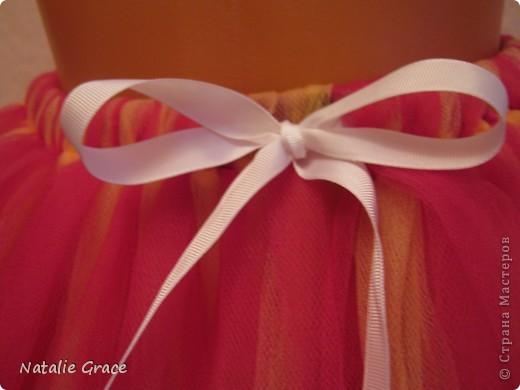 юбка-пачка: цвет бледно-розовый+персиковый. талия 50-60 см, длина 32 см фото 6