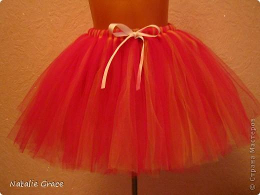юбка-пачка: цвет бледно-розовый+персиковый. талия 50-60 см, длина 32 см фото 5