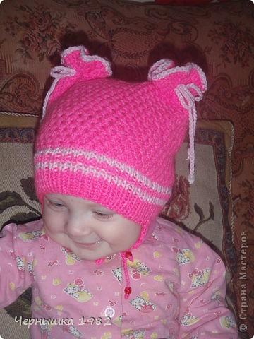 Вязание крючком шапка для девочки 3 лет