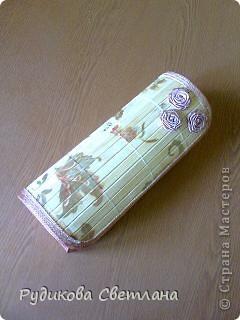 Купила набор из трех бамбуковых салфеток - получилось две шкатулки и коробочка для очков!!! фото 4