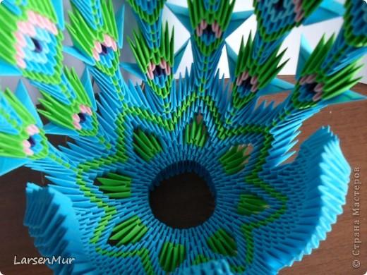Вот и я наконец-то собрала долгожданного павлина =) За основу взяла МК жар-птицы Галины Тиховой http://stranamasterov.ru/node/172262. Долго подбирала цвета, хотелось чтобы максимально был похож на настоящего. фото 3