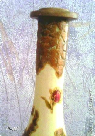 Решила сделать вазочку для одной розы.И уже давно чесались руки на эту салфеточку. фото 3