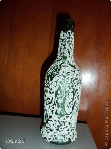 Эту бутылочку я сделала как дополнение к колонкам! фото 3