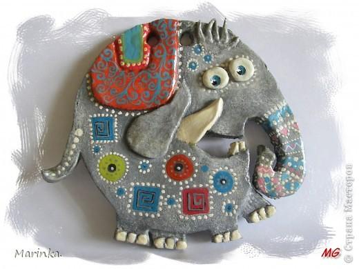 Очень понравился слоник из пары слон + улитка от Inna-mina. Надеюсь и у меня получилось... фото 1