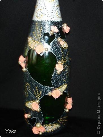 Продолжаю подготовку к свадьбе сестры. Хочу представить вам мою первую свадебную бутылочку. фото 2