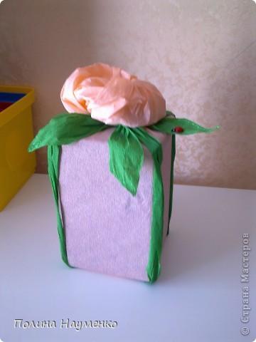 У родителей мужа 25 лет совместной жизни, т.е. Серебряная свадьба, вот так я упаковала подарок)) фото 2