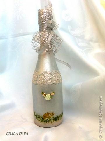 Свадебная бутылка фото 2