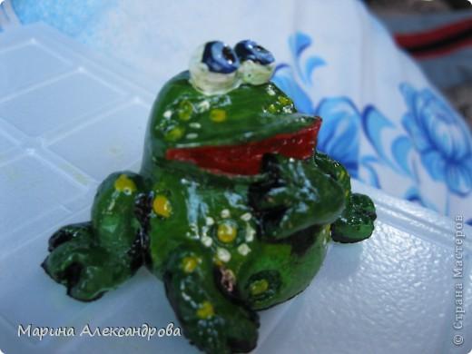 а лягушечка...(остался кусочек от яблочка)..подарила сестре мужа, ей понравилась!! фото 3