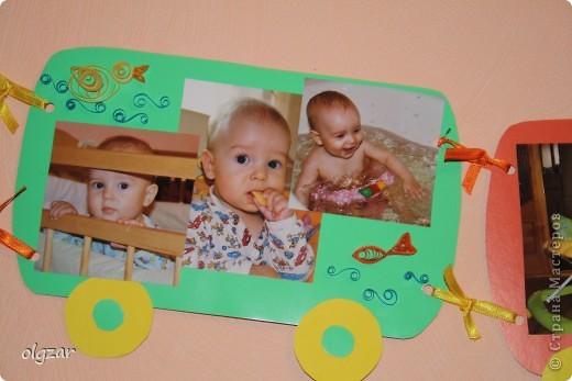 Здравствуйте! На день рождения сына делала вот такой паровозик. Попыталась освоить квиллинг, понимаю, что не все идеально, но может быть в качестве идеи, кому-нибудь пригодится. фото 4