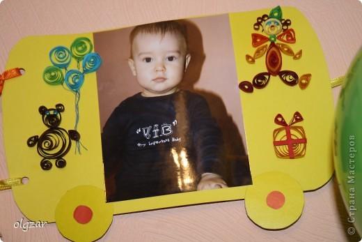 Здравствуйте! На день рождения сына делала вот такой паровозик. Попыталась освоить квиллинг, понимаю, что не все идеально, но может быть в качестве идеи, кому-нибудь пригодится. фото 7