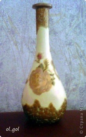 Решила сделать вазочку для одной розы.И уже давно чесались руки на эту салфеточку. фото 1