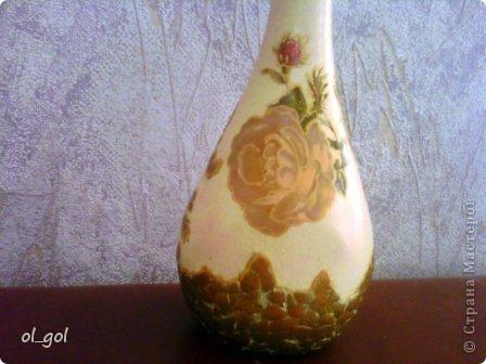 Решила сделать вазочку для одной розы.И уже давно чесались руки на эту салфеточку. фото 4