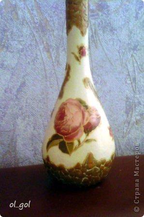 Решила сделать вазочку для одной розы.И уже давно чесались руки на эту салфеточку. фото 2