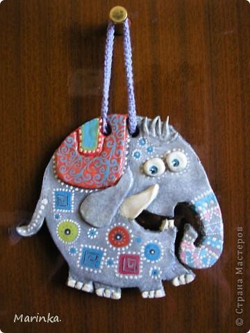 Очень понравился слоник из пары слон + улитка от Inna-mina. Надеюсь и у меня получилось... фото 2