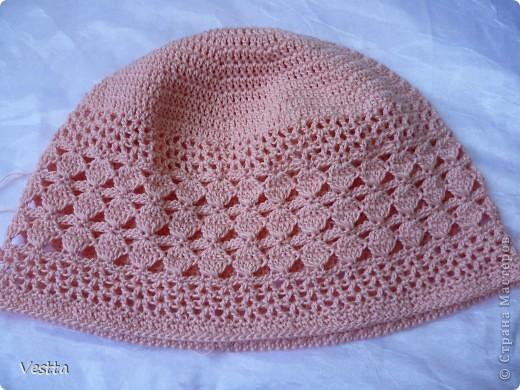 шапочка для девочки Пряжа