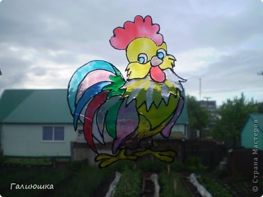 Бэмби... Моя 4 работа. Мне очень нравится рисовать витражными красками))) фото 3