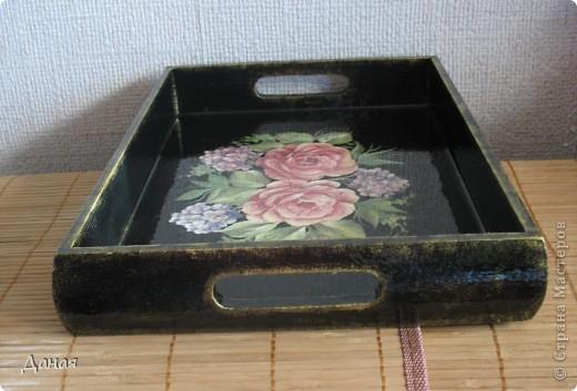 """Поднос """"Чайные розы"""" фото 3"""