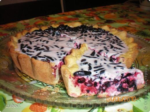 Пирог с желатином и ягодами рецепт с