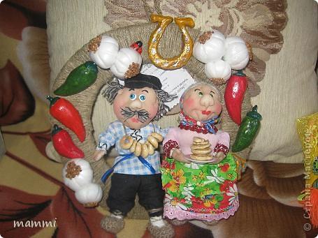 Меня попросили сделать на юбилей свадьбы (45 лет) бабушку и дедушку. Хочу сказать ОГРОМНОЕ СПАСИБО Светлане 26 и Леночке Kyld за их идеи оформления оберегов которыми я воспользовалась! фото 1