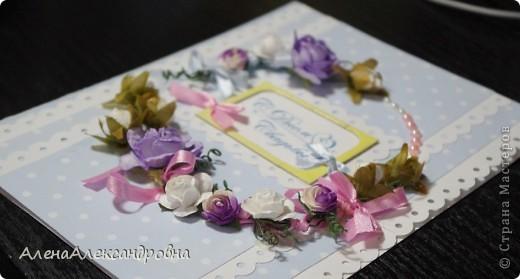 Првый раз делала свадебную открыточку.Внутри еще не оформила, так как до конца не обсудили с заказчизей. фото 3