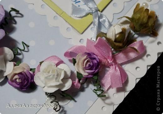 Првый раз делала свадебную открыточку.Внутри еще не оформила, так как до конца не обсудили с заказчизей. фото 5