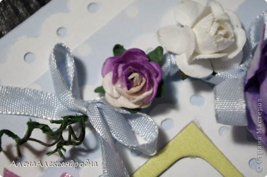 Првый раз делала свадебную открыточку.Внутри еще не оформила, так как до конца не обсудили с заказчизей. фото 6