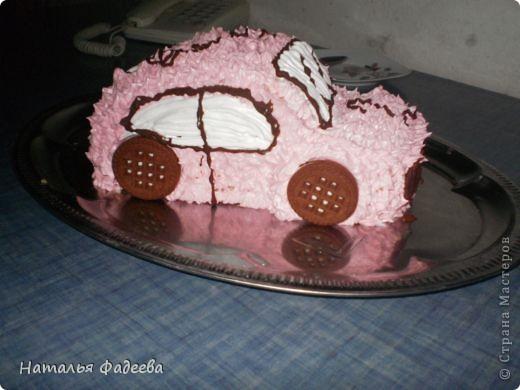 """Вот мое розовое """"чудо"""". Машинку делала впервый раз. фото 2"""