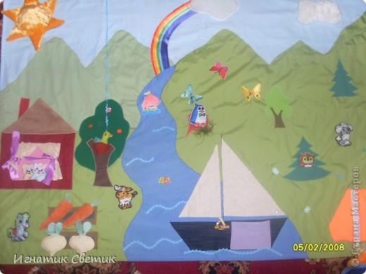 Развивающее панно в детский сад. Общий вид. Извините за качество фотографий. фото 1