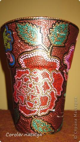 Ваза с паутинкой. Стеклянную вазу обезжирила и покрыла краской из баллончика. фото 7