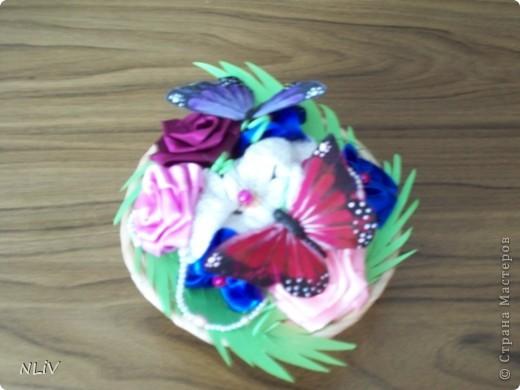 Цветочная корзинка фото 1