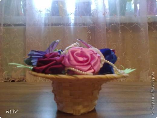 Цветочная корзинка фото 2